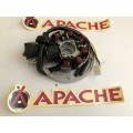 Apache RLX50/100cc generator / magneto / acg back plate all years